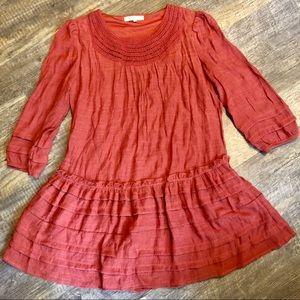 Indigo Soul small Cinnamon crochet gauze tunic